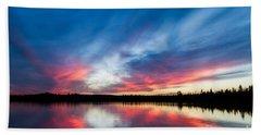 Moose Lake Sunset Hand Towel