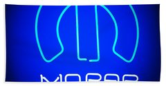 Mopar Neon Sign Bath Towel