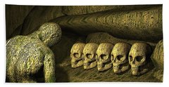 Bath Towel featuring the digital art Morbid Vespers by John Alexander
