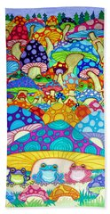 More Frogs Toads And Magic Mushrooms Hand Towel