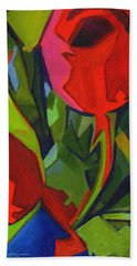More Red Tulips  Bath Towel