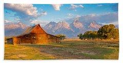 Mormon Row And The Grand Teton Hand Towel