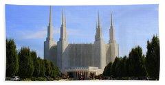 Mormon Temple Dc Bath Towel by Patti Whitten