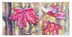 Morning After Autumn Rain Hand Towel by Shana Rowe Jackson