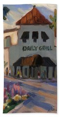 Morning At The Daily Grill Bath Towel