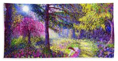 Morning Dew Hand Towel by Jane Small