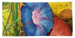 Morning Glory Bloom In Apples Hand Towel