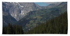 Morning In The Alps Bath Towel