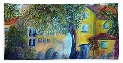 Bath Towel featuring the painting Morning In Tuscany by Eloise Schneider