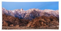 Morning Light Mount Whitney Hand Towel