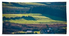 Hand Towel featuring the photograph Morning Shadows Over Irish Countryside by James Truett