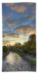 Bath Towel featuring the photograph Morning Sky On The Fox River by Daniel Sheldon