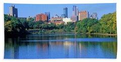 Morning View Of Minneapolis Skyline Bath Towel