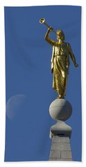 Moroni And The Moon Hand Towel by David Andersen