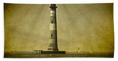 Morris Island Light Vintage Bw Uncropped Hand Towel