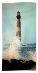 Morris Island Lighthouse Hand Towel