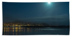 Morro Bay At Night Hand Towel