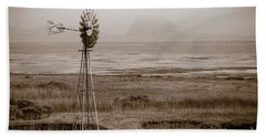 Morro Bay Windmill Hand Towel