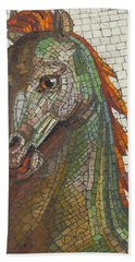 Hand Towel featuring the photograph Mosaic Horse by Marcia Socolik