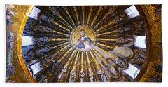 Mosaic Of Christ Pantocrator Bath Towel