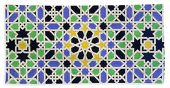 Mosaic Pavement In The Alhambra Bath Towel