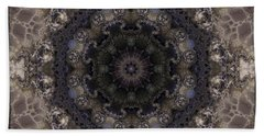 Mosaic Tile / Gray Tones Hand Towel by Elizabeth McTaggart