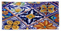 Mosaic Tile Tabletop Bath Towel