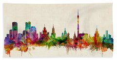 Moscow Skyline Hand Towels