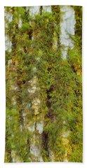 Moss On A Tree Bath Towel