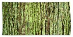 Moss On Tree Bark Bath Towel