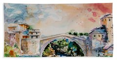Mostar Bridge Bath Towel