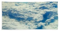 Hand Towel featuring the photograph Mostly Cloudy by Mark Greenberg