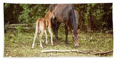 Mother And Foal Bath Towel