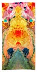 Mother Nature - Abstract Goddess Art By Sharon Cummings Bath Towel