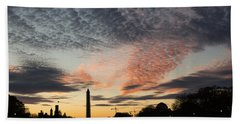 Mother Nature Painted The Sky Over Washington D C Spectacular Hand Towel