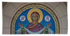 Mother Of God Mosaic Hand Towel