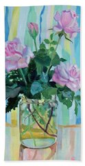 Mother's Roses Hand Towel