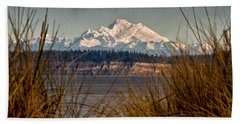 Mount Baker From Port Townsend Bath Towel