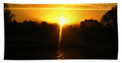 Mount Lassen Sunrise Gold Hand Towel by Joyce Dickens