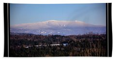 Mount Moosilauke Snowy Blanket Bath Towel