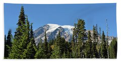 Mount Rainier Evergreens Hand Towel