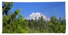 Hand Towel featuring the photograph Mount Rainier by Gordon Elwell
