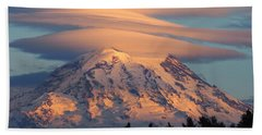 Mount Rainier In November  Bath Towel