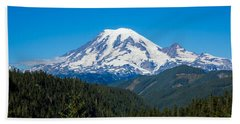 Mount Rainier Bath Towel by John M Bailey