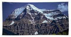 Bath Towel featuring the photograph Mount Robson by Richard Farrington