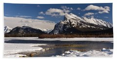 Mount Rundle Hand Towel by Dee Cresswell
