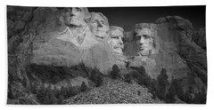 Mount Rushmore South Dakota Dawn  B W Hand Towel by Steve Gadomski