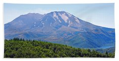 Mount St. Helens And Castle Lake In August Bath Towel by Connie Fox