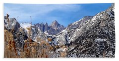 Mount Whitney - California Hand Towel by Glenn McCarthy Art and Photography