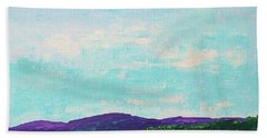 Mountain Lake Hand Towel by Gail Kent